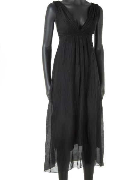 Black Cotton & Silk Summer Dress