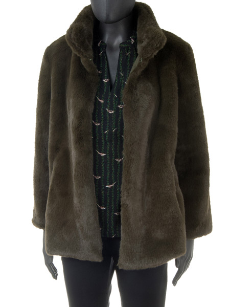 Faux Fur Dark Olive Jacket