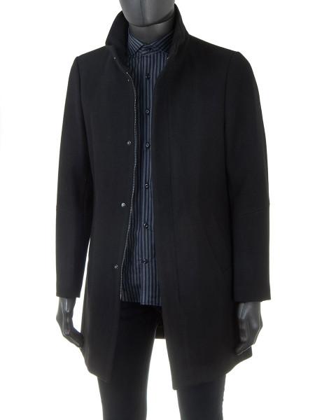 Classic Black Wool Coat
