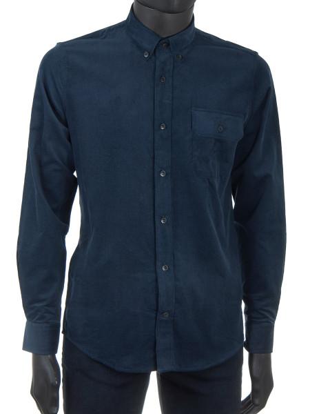 Dark Navy Corduroy Shirt