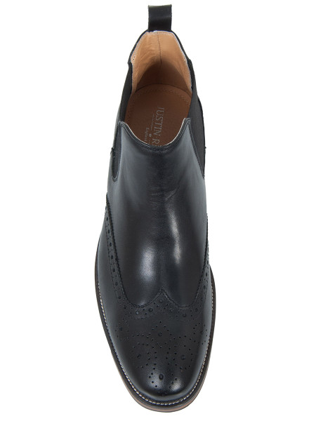 Black Brogue Chelsea Boot