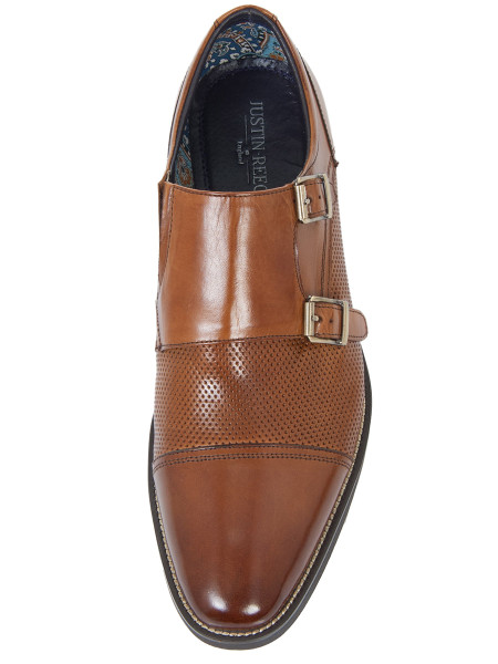 Cognac Double Monkstrap Shoe