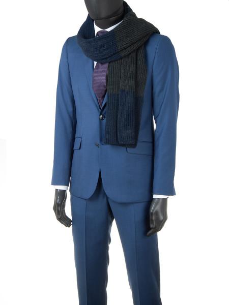 Blue Pure Wool 2-Piece Suit
