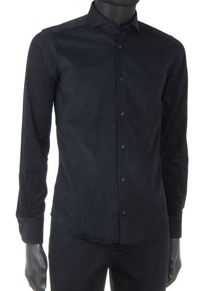 Black Superfine Corduroy Shirt