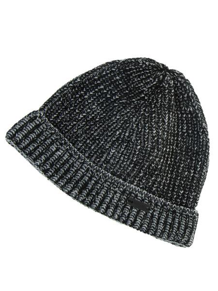 Black & Grey Melange Beanie