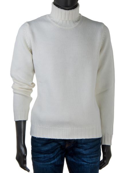 Merino Wool Rollneck White