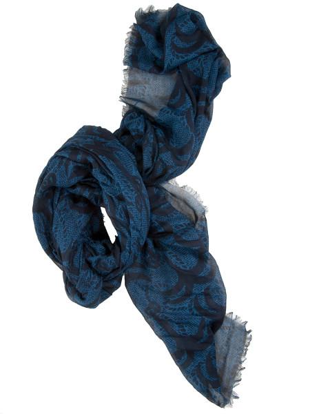 All-Over Print Modal Scarf Blue