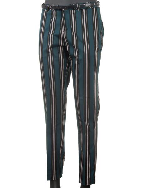 Multi-Coloured Striped Suit Pants