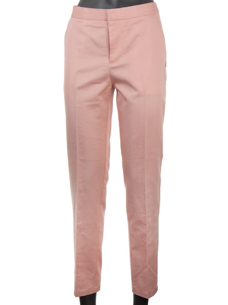 Tailored Herringbone Pants Pink