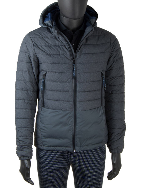 Quilted Grey Puffer Jacket