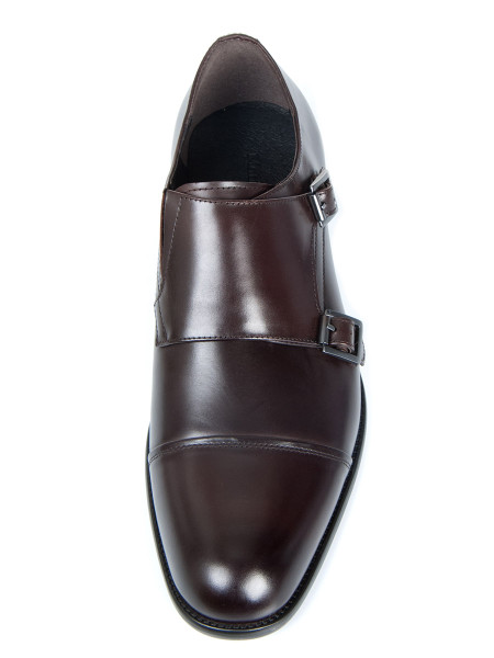 Dark Brown Double Monkstrap Shoe