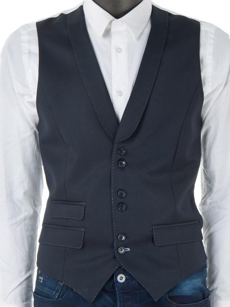 Dark Navy Pure Wool Waistcoat