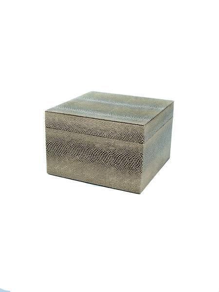 Gold Snakeskin Box
