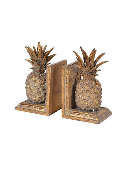 Medium Golden Pineapple Bookends