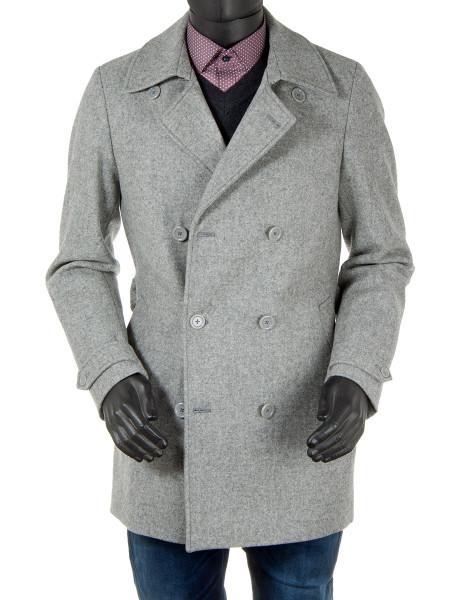Light Grey Wool Pea Coat