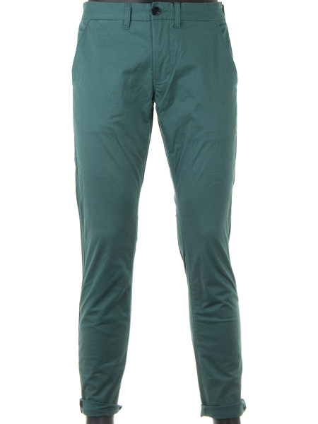 Light Forest Green Cotton Chinos