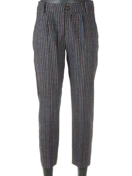 Striped Wool Blend Pants