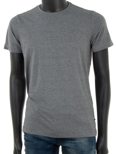 Basic Midgrey Crew Neck T-Shirt