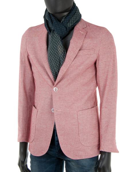 Light Red Cotton Linen Blend Blazer