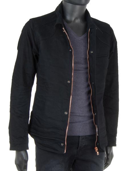 Coated Black Denim Jacket