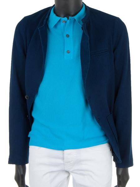 Textured Turquoise Polo
