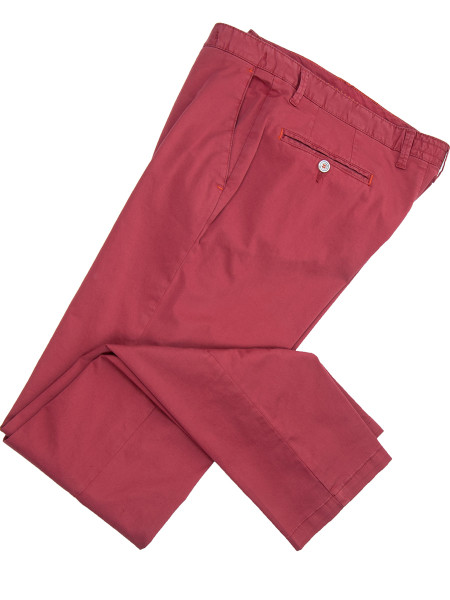 Bordeaux Stretch Cotton Chinos