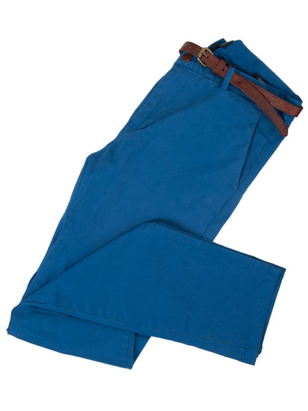 Ocean Blue Slim Fit Stretch Chinos