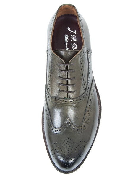 Dark Forest Green Leather Brogue