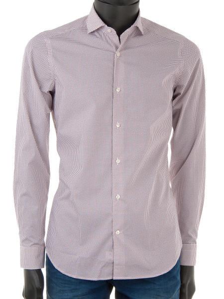 Crimson Dot Cotton Shirt