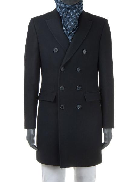 Black Wool Top Coat