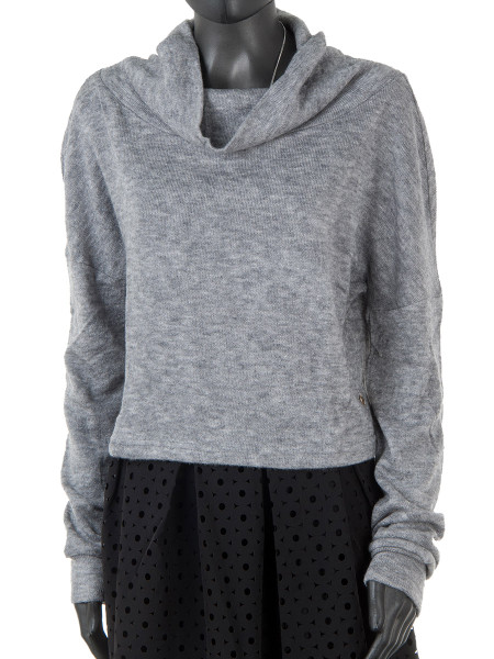 Soft Grey Knitted Sweater