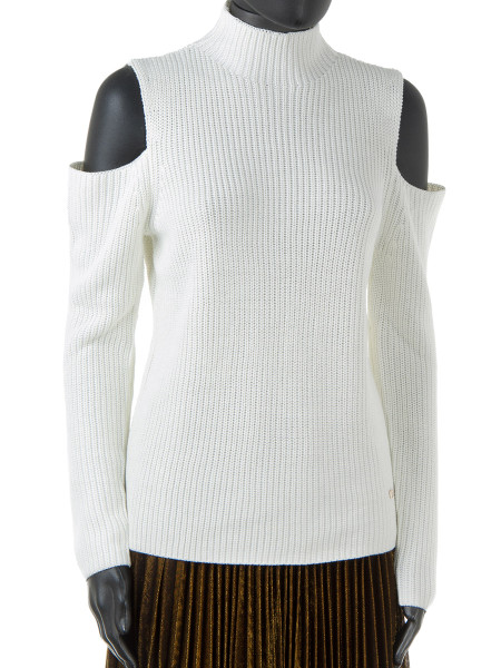 Winter White Peak Shoulder Sweater