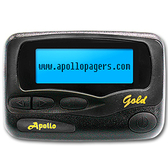Apollo Gold Alpha Numeric pager