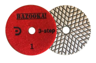 "Bazooka 4"" 3-Step Dry Polishing Pad"