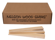 Nelson Pine Wood Shims (120/box, 12 box/case)