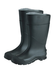 "Premium Steel Toe 16"" PVC Lugged Outsole Boots (Black)"