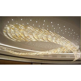Decorative Feather Inspired Hotel Chandelier