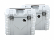 Hepco & Becker GOBI 37 Litre Side Case Set (Silver / Aluminium Look)