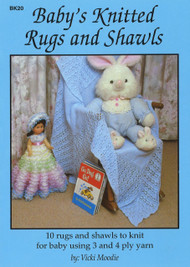 Image of Craft Moods book BK20 Baby's Knitted Rugs and Shawls by Vicki Moodie.