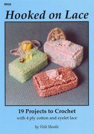 Cover image of Craft Moods book BK02 Hooked on Lace by Vicki Moodie