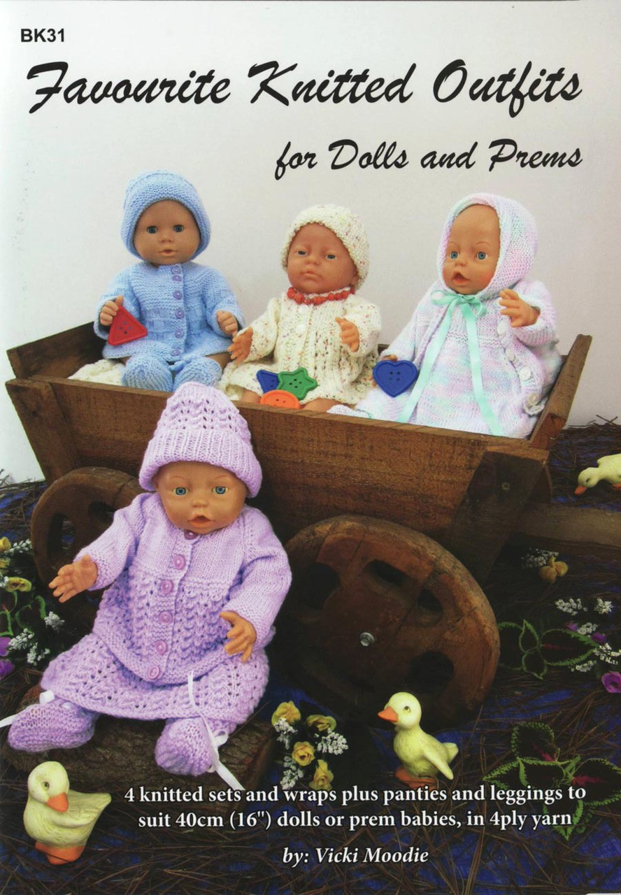 Bk31 Favourite Knitted Outfits For Dolls And Prems Craft