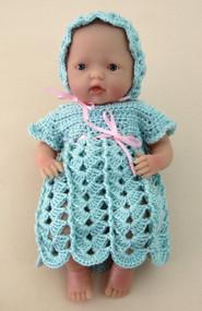 "CMPATC062 Shell & Post Outfit for 7.5"" Mini La Newborn Baby Doll"