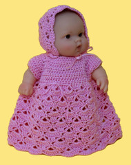 """CMPATC064 Shell Pattern Outfit for 8"""" Berenguer Chubby Doll"""