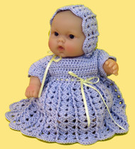 "CMPATC063PDF Shell & Post Outfit for 8"" Berenguer Chubby Doll"