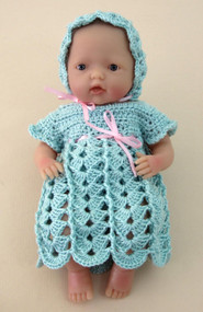 "CMPATC062PDF Shell & Post Outfit for 7.5"" Mini La Newborn Baby Doll"