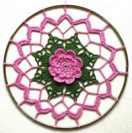 CMPATC013PDF - Pink Rose Sun-Catcher