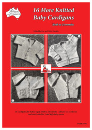 Front cover image of Paragon Heritage series Baby knitting book PARK217R, 16 More Knitted Baby Cardigans.
