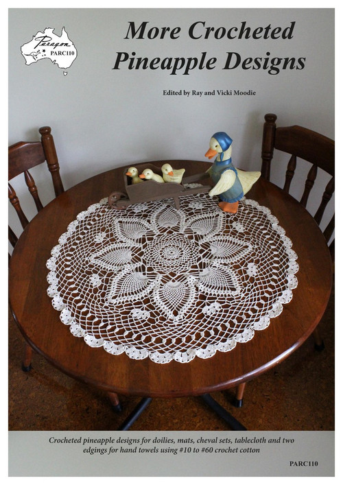 Craft Moods (Paragon book) PARC110(A4) More Crocheted Pineapple Designs, cover image showing coffee table cloth