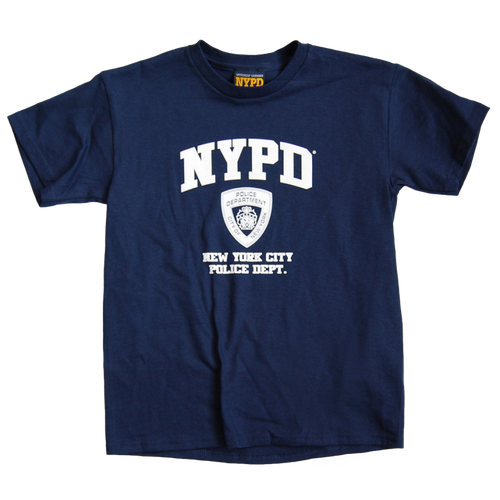 NYPD Kids Navy Tee with white Print