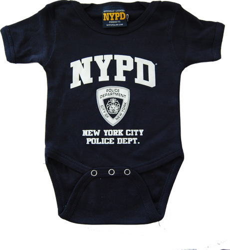 NYPD Infant Onesie Navy with White Chest Print